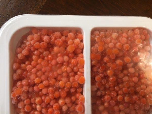 Coho salmon caviar