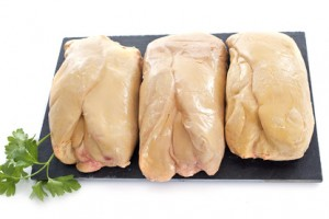 30539171 – foie gras in front of white background